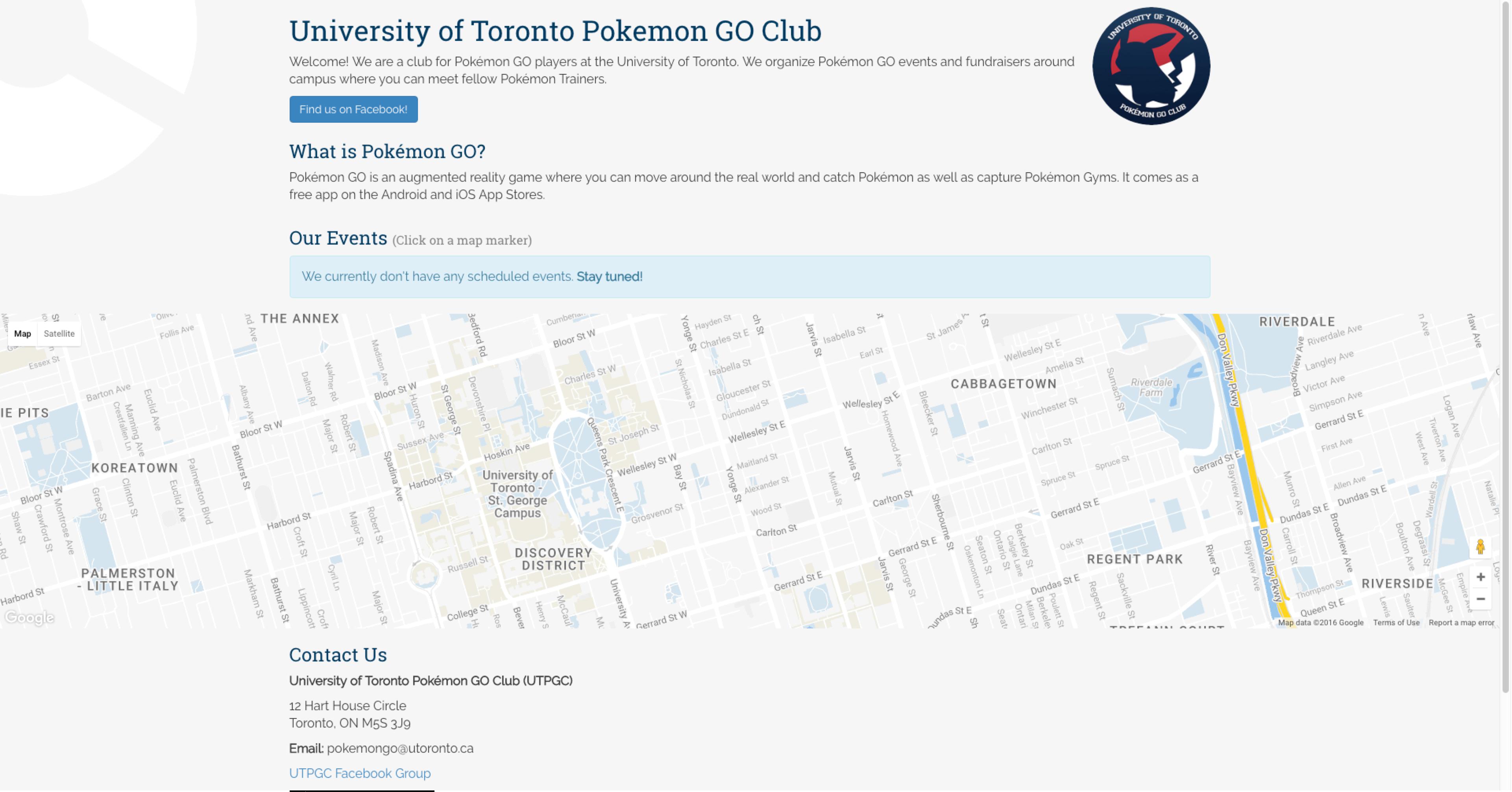 U O F T Campus Map.Harry Jiang
